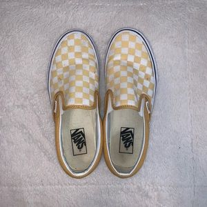 VANS - yellow checkered vans